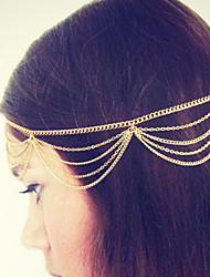 Women Alloy Head Chain Tassel Chain Headdress