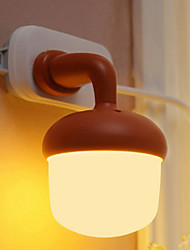 Christmas  Voice Control and Light-Operated Creative Energy Saving Acorn Light A Night Light Lamp Led ABS 12*14cm