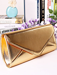Women PU Minaudiere Clutch / Evening Bag - Blue / Gold / Silver / Black