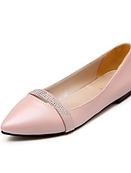Women's Shoes Flat Heel Comfort / Pointed Toe Flats Outdoor / Office & Career / Dress Black / Pink / Purple / Beige