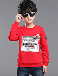 Boy's Patch Print Thickened Long Sleeve Sweatshirt