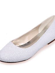 Women's Spring / Summer / Fall Round Toe Glitter Wedding / Party & Evening Flat Heel Black / Ivory / White