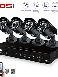 ZOSI® 8 Channel H.264 HDMI D1 DVR 4 pcs 700TVL 4.6mm Lens IR Day Night Waterproof CCTV Camera Security System