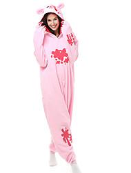Kigurumi Pijamas Urso Guaxinim Collant/Pijama Macacão Festival/Celebração Pijamas Animais Dia das Bruxas Patchwork Lã Polar Kigurumi Para