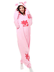 Kigurumi Pajamas Bear Raccoon Leotard/Onesie Festival/Holiday Animal Sleepwear Halloween Patchwork Polar Fleece Kigurumi For Unisex