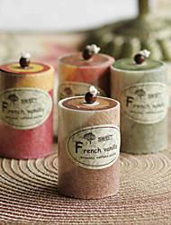 30 Hours Romantic Aromatherapy Cylinder Birthday Wedding Candle (Strawberry , Actinidia , Coffe , Rench vanilla Odor)