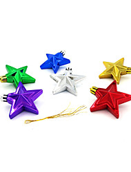 Gold-plated Christmas star pendant ,color random delivery