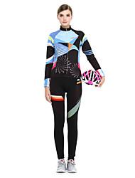 LIFETONE® Calça com Camisa para Ciclismo Mulheres Manga Comprida MotoRespirável / Mantenha Quente / Forro de Velocino / Fecho YKK /