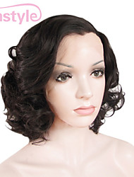 Women Short Cut Style Dark Brown Bouncy Curly High Heat Resistant Synthetic Celebrity Wigs