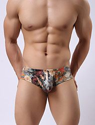 Men 's big t The milk silk underwear smooth and comfortable move printing