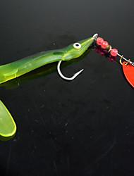 """10 pcs Leurre souple leurres de pêche Leurre souple Cuillères Vert Couleurs assorties g/Once,180 mm/2-1/2"""" pouce,Plastique souple Métal"""