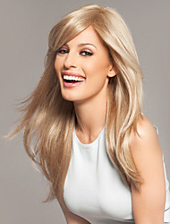 Special Amazing Human Virgin Remy Hair Hand Tied-Top Woman's Capless Long Straight Wig