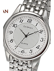 EASMAN Brand Men's Sapphire Casual Business Stripe Round Shape Stainless Steel Swiss Movement Quartz Watch Wristwatch
