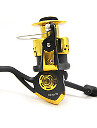 5000 6000 7000 Size 5.2:1 5 Ball Bearings Big Spinning Reels Left and Right Handle Exchangeable Black with Golden Color
