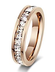 Z&X® Fashion Rhinestone Titanium Wedding Steel Ring Band Rings Party / Daily / Casual 1pc