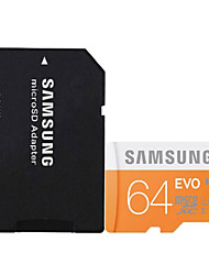 Original Samsung 64GB Class 10 MicroSDHC TF Memory Card UHS-1 with SD Card Adapter