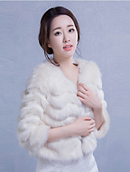 3/4-Length Sleeve Wedding / Party/Evening / Casual Imitation Cashmere Coats/Jackets Bridal  Wraps