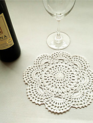 20pcs/Lot 20cm Round Handmade Crochet Table Doilies