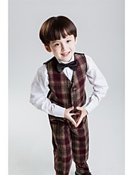 Brown Polyester Ring Bearer Suit - 4 Pieces