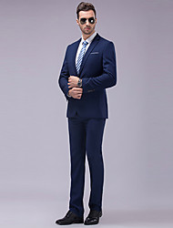 Male Casual Outerwear Suits 2 Piece Suit Set Male Formal Commercial Plus Sizes Work Set