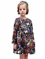 Vestido Chica de - Primavera / Otoño - Algodón - Negro