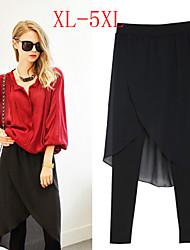 DONNE - Pantaloni - Sexy / Feste A vita alta - magro Cotone