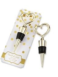 Heart of Gold Wine Bottle Stopper Practical Barware Favors