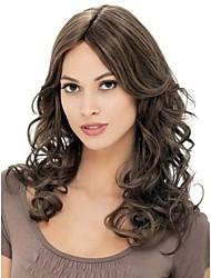 capless extra longa peruca marrom dourado cabelo encaracolado sintéticas