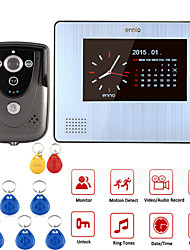 "ENNIO 7""Color Touch Screen Video Door Phone with PIR Record intercom System RFID Keyfob IR Camera"