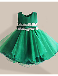 Girls Green Flower utu Party Christmas Birthday Dance Princess Kids Clothing Dresses