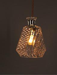 E27 220V 20*18CM 10-15㎡Romantic Bottle Creative Carved Art Glass Chandelier Light Led