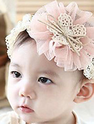 Kid's Double Layers Flower Lace Elastic Headband