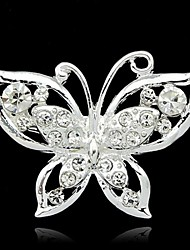 Women's  Colorful Butterfly Silver Plated Brooch(Random Color)