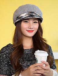 Autumn Winter Women Rabbit Plaid Military Hat  LD00057