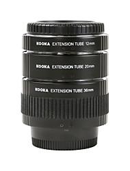 KOOKA KK-N68 Electroplating Brass Macro AF Extension Tubes Set for Nikon (12mm 20mm 36mm)SLR Cameras