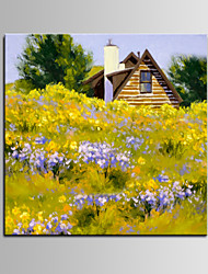 IARTS®Beautiful Countryside Landscape Flower Scenery Handamde Oil Painting by Artist for 2015 Nice New Design