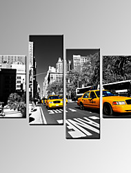 VISUAL STAR®New York City Photo Print Yellow Taxi Canvas Wall Art Ready to Hang