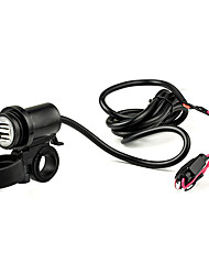 Motorcycle Mobile Phone Dual USB Charger Power Adapter Socket 12V 2.1A