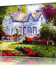 DIY digitales Ölgemälde Frame Familie Spaß Malerei alle von mir Frühlingslandschaft x5020