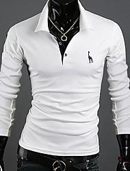 T-Shirts ( Coton mélangé ) Informel Support à Manches longues pour Homme