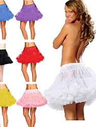 Slips A-Line Slip / Ball Gown Slip Short-Length 2 Tulle Netting TUTU White / Black / Red / Blue / Purple / Pink / Yellow