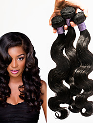 "Tangle Free 3PCS/LOT Peruvian Virgin Hair Body Wave 8""-30"" Double Wefts No Shedding High Quality"
