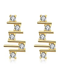 Earring Stud Earrings Jewelry Women Wedding / Party / Daily / Casual Zircon / Copper / Platinum Plated / Gold Plated / Rose Gold Plated