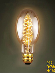 E27 40W  C75 Around The Silk Restaurant Shopping Malls Edison Antique Retro Decorative Lamp