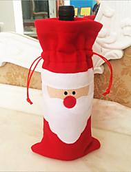 2015 nouvelles décorations de la maison noël navidad père noël ensembles de bouteilles de vin rouge ADORNOS navidad douille de bouteille