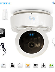 Snov® PTZ Surveillance Home Alarm System with PTZ Video IP Camera, 32GB SD Card Included SV-VPC3KT32