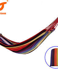 SWIFT Outdoor Brand Hot Sale1 Person 280Lx100Wcm 120kgs Colorful Cotton Single Canvas Hammock With Cloth Bag