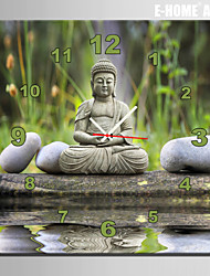 E-HOME® Stone Buddha Clock in Canvas 1pcs
