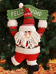"15.7"" Spanish Quote FELIZ NAVIDAD Merry Christmas Wreath Santa Claus Hanging Xmas Tree Decoration"