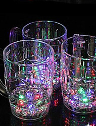 12.2*9.5CM Christmas Colorful Flash Light Plastic Induction Cup Water To Shine Light LED Lamp 1pc